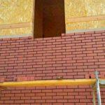 Облицовка кирпичом дома из сип панелей