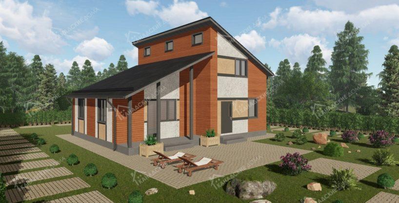 Проект двухэтажного дома из сип панелей Радуга