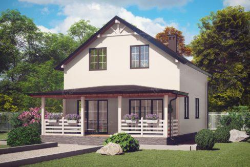 Проект дома из SIP панелей Сосновка