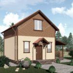 Проект двухэтажного дома Янтарный