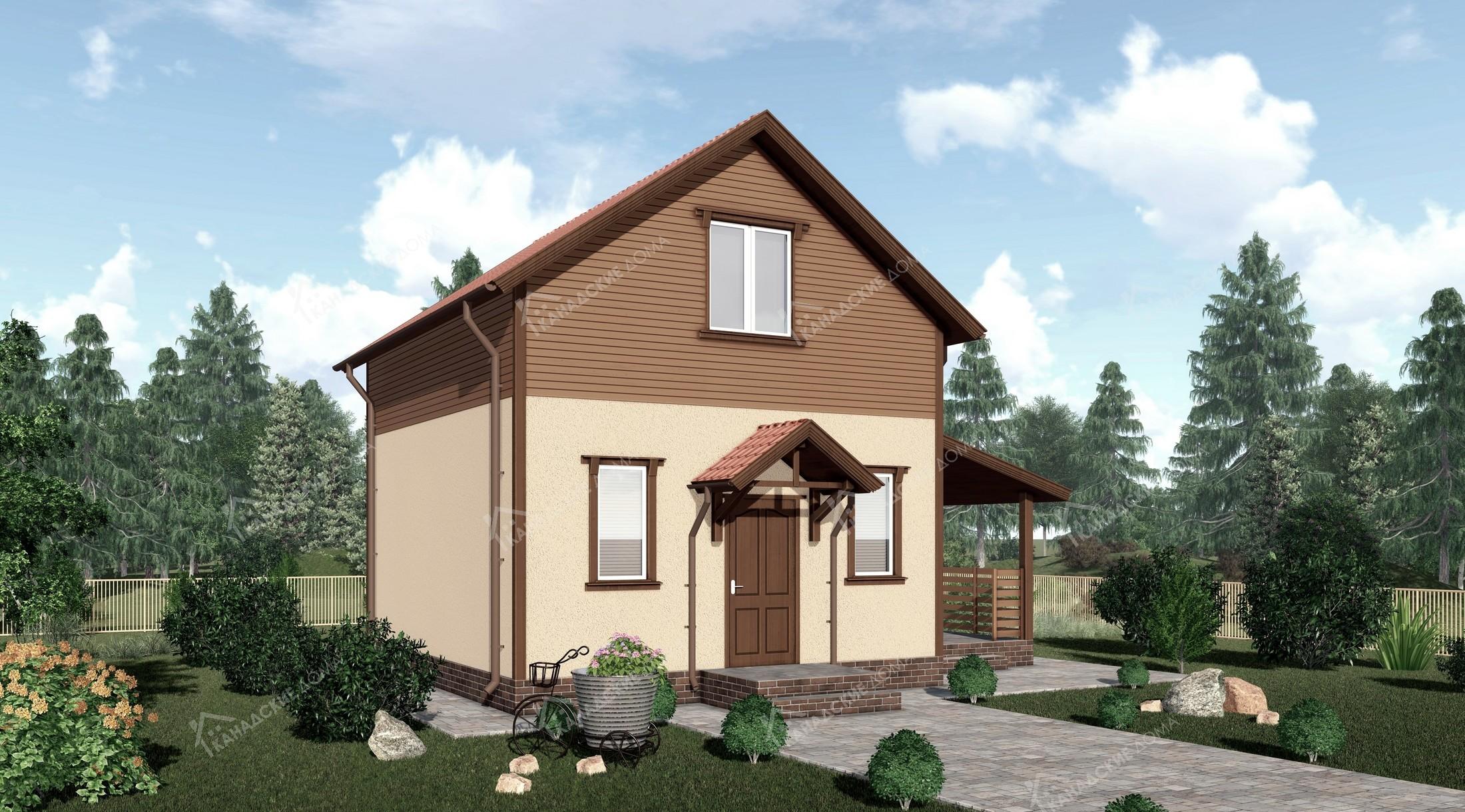 """Проект жилого дома, дачи<p></noscript>KD-1910 """"Янтарный""""</p>"""