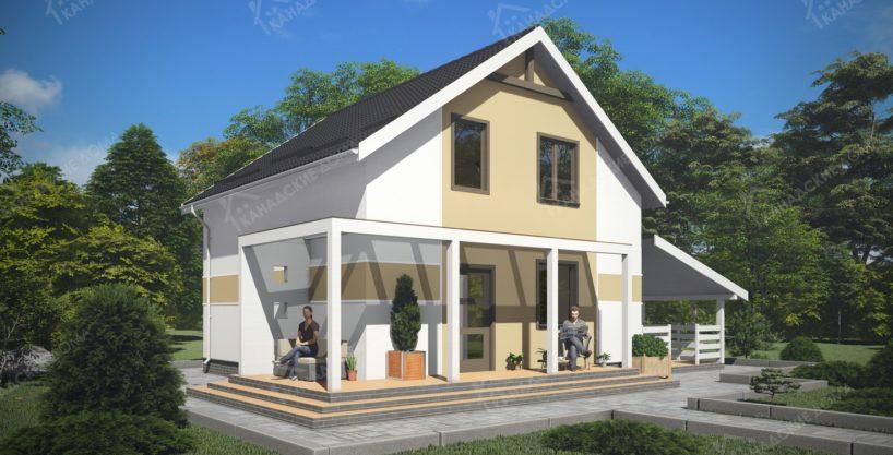 Проект дома из СИП панелей Максим - вид 02