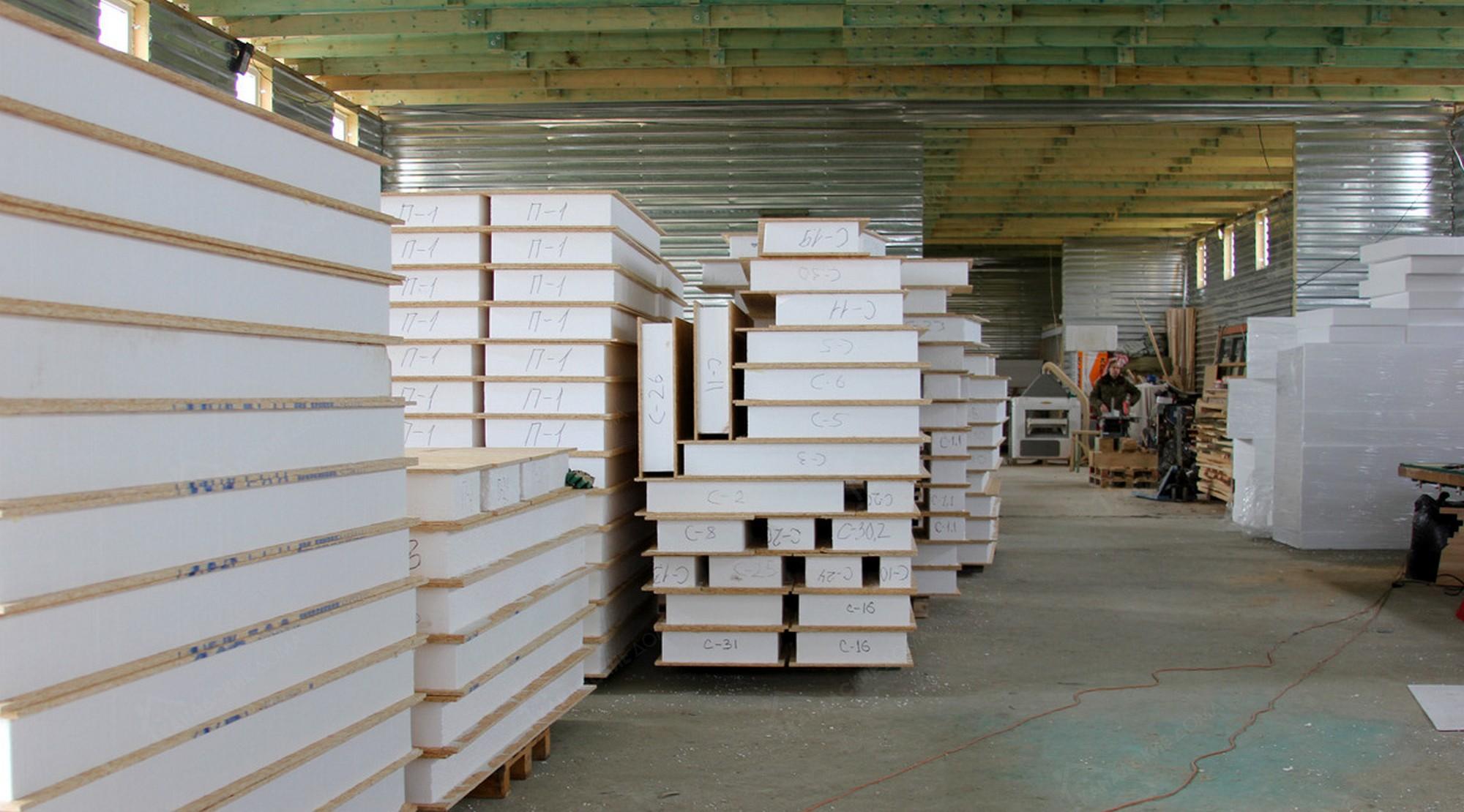 СИП панели на заводе