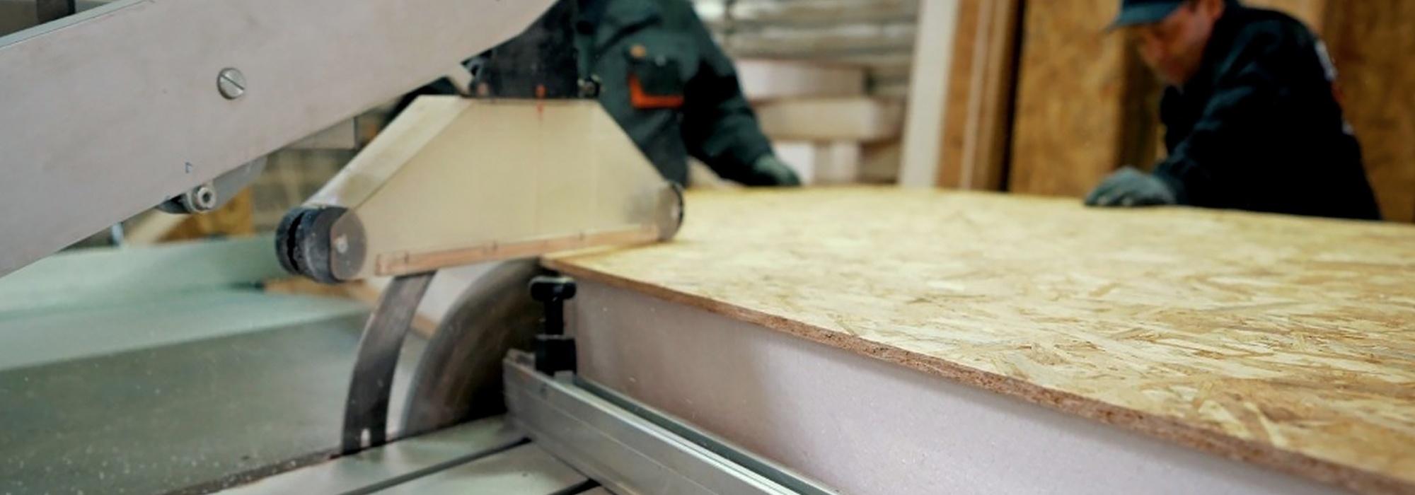 Производство сип панелей. Фото