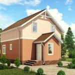 Проект двухэтажного сип дома Победа - вид 001