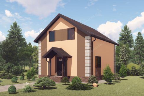 Проект двухэтажного дома из сип панелей Россиянка