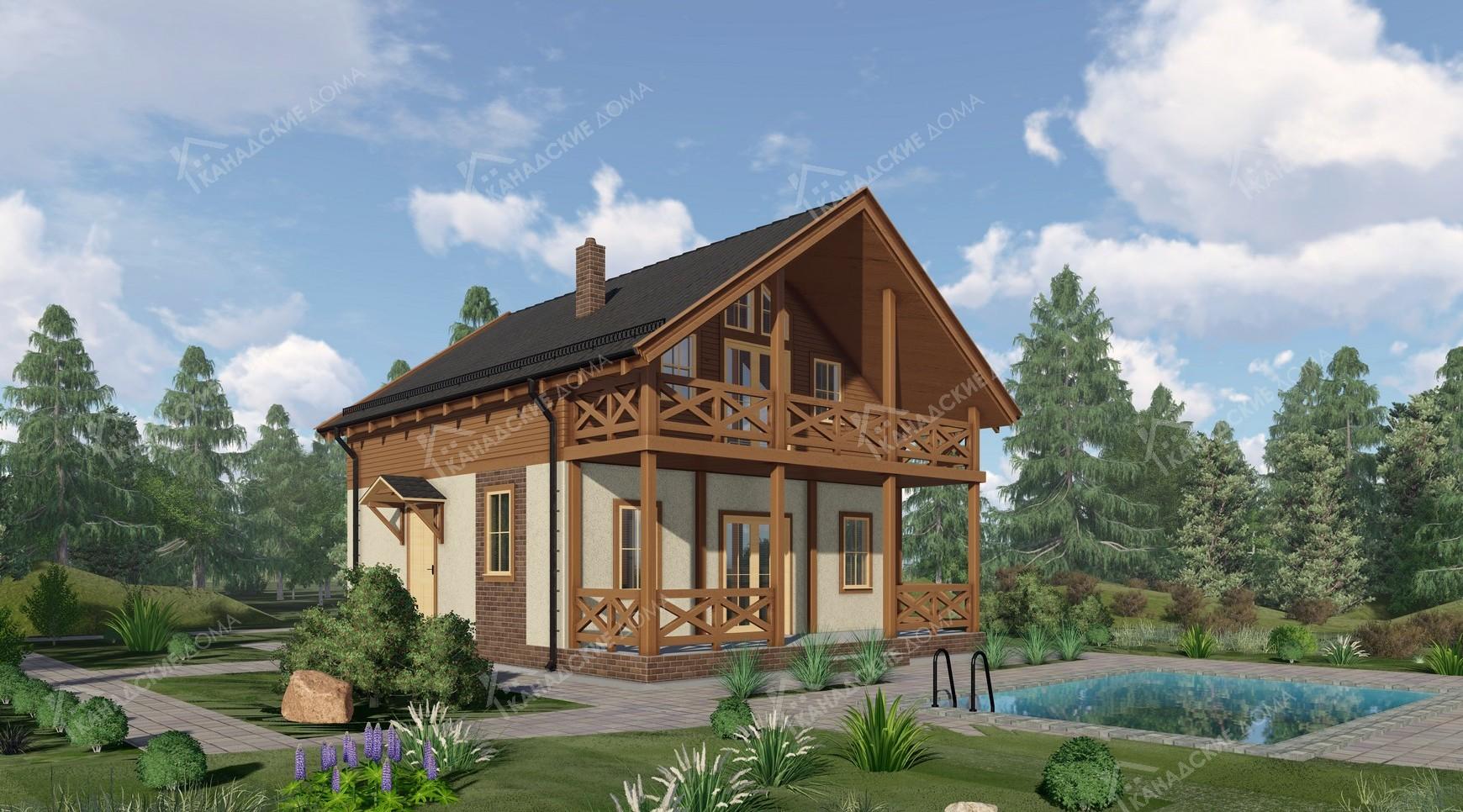 """Проект жилого дома из сип панелей<p></noscript>KD-1902 """"Малиновка""""</p>"""