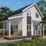 Проект двухэтажного жилого дома из сип панелей Холмы