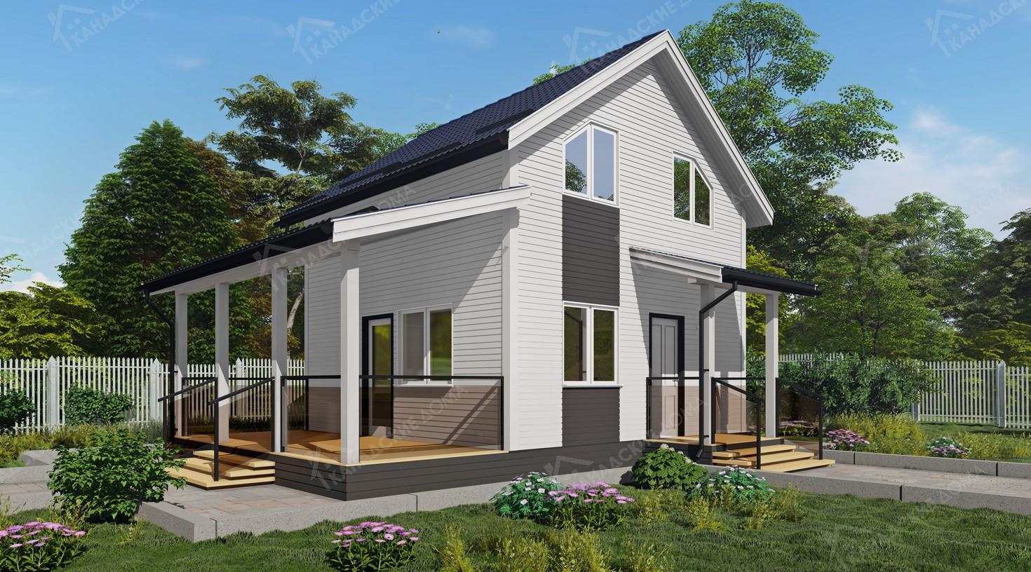 """Проект жилого дома из сип панелей<p></noscript>KD-2082 """"Холмы""""</p>"""
