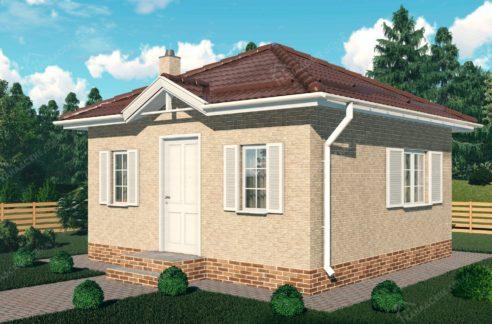 Проект дома из сип панелей Рассвет - вид 001