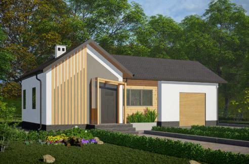 Проект дома из сип панелей Сканди