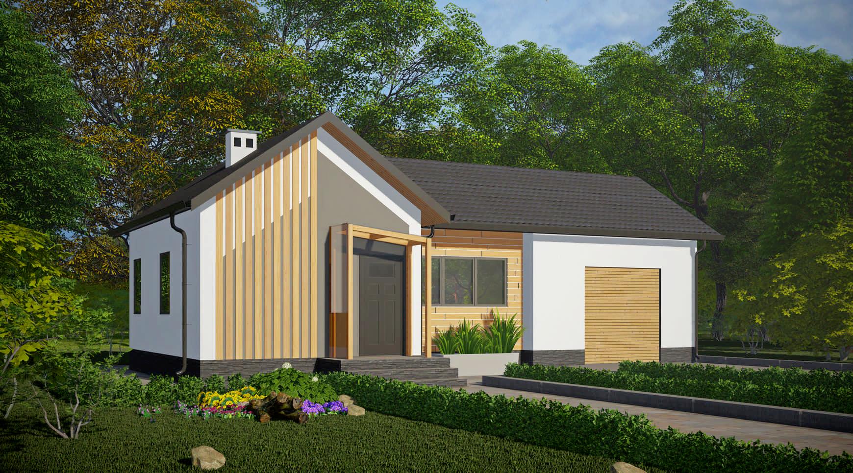 """Проект жилого дома<p>KD-2080  """"Горбунок""""</p>"""