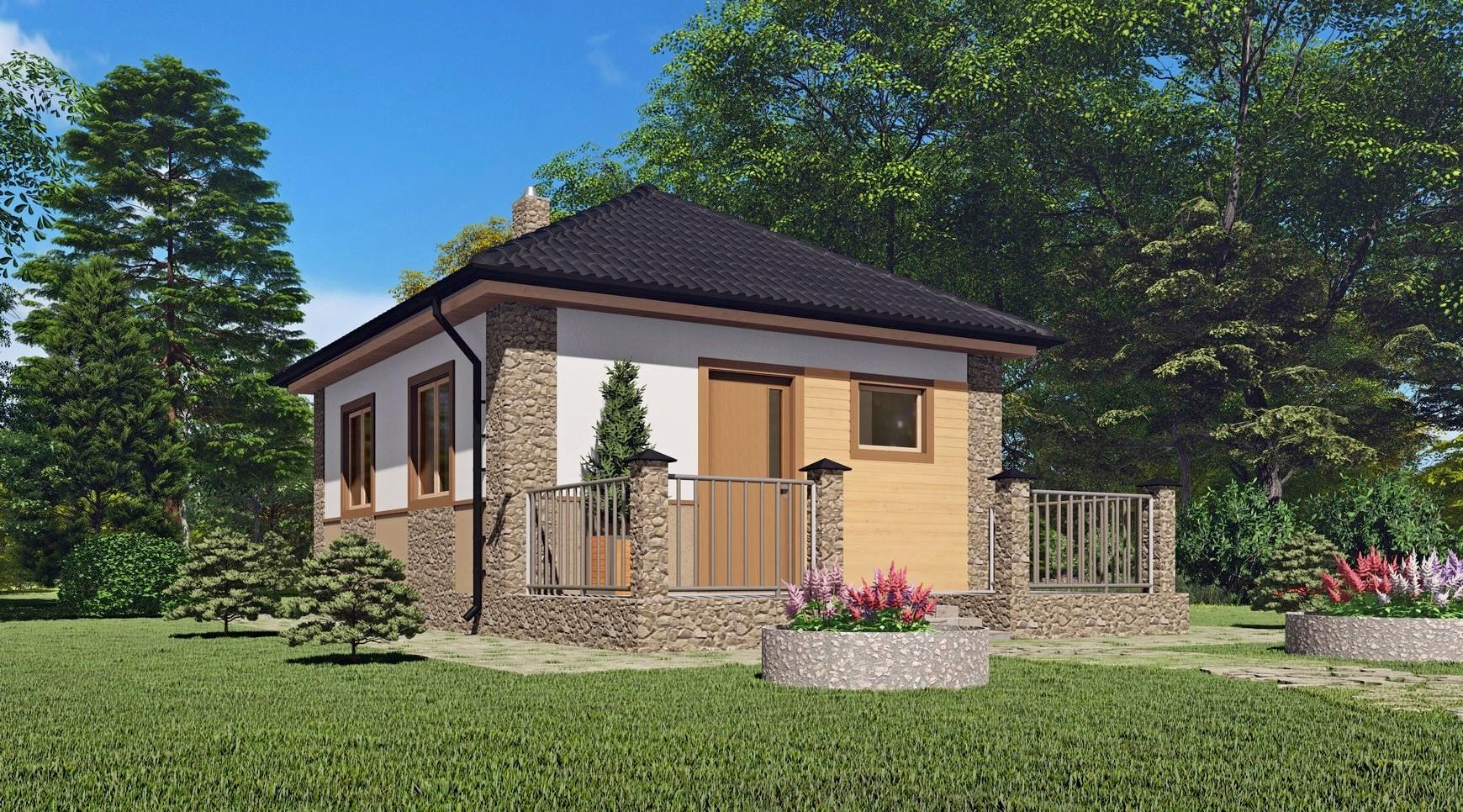 """Проект дачного дома из сип панелей <p>KD-0052 """"Шатрово""""</p>"""