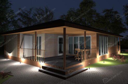 Проект дома из сип панелей Виктория - вид-001