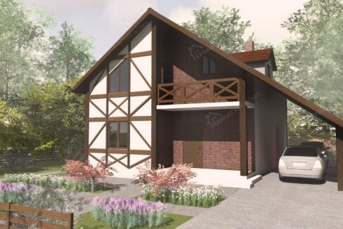 Проект жилого или дачного дома из сип панелей Элоиза