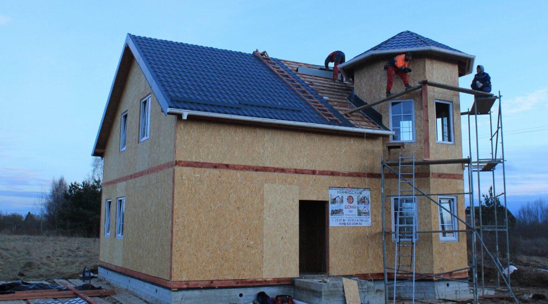 Строительство сип дома - делаем крышу - фото 022