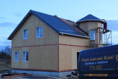 Строительство сип дома - делаем крышу - фото 029
