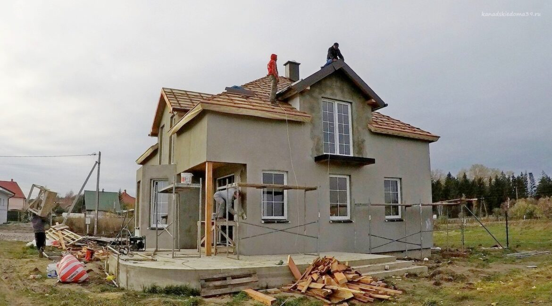 Этапы строительства дома из SIP панелей. Идут отделочные работы - фото 29